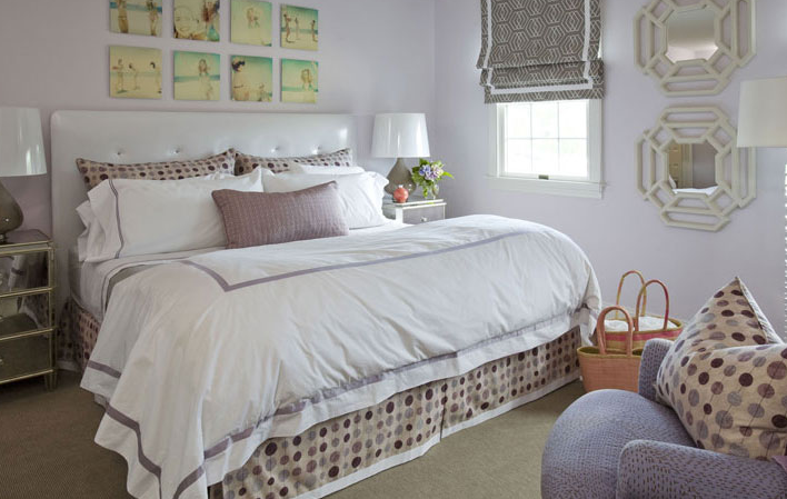 Lilac Bedding, Transitional, girl's room, Willey Design