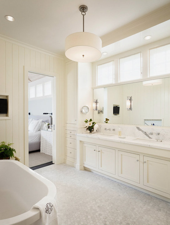 Off White Bathroom Cabinets Transitional