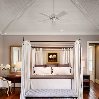 Gray Purple Paint Color, Transitional, bedroom, Benjamin Moore Nightingale, Dillon Kyle Architecture