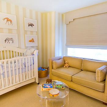 Striped Nursery, Transitional, nursery, Dillon Kyle Architecture