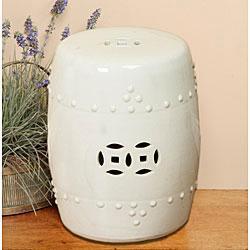 Off White Porcelain Stool (China), Overstock.com
