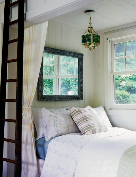 Bedroom Loft Ladder Cottage Bedroom Mary Mcgee Interiors