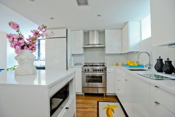 White Modern Kitchen Cabinets