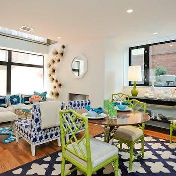 Chinese Chippendale Chair, Contemporary, dining room, Jonathan Adler