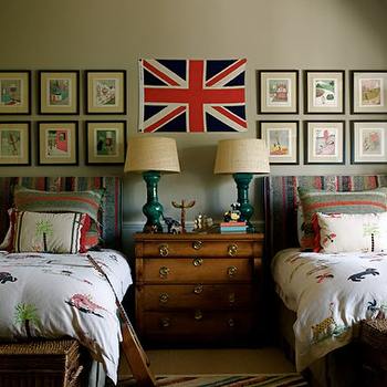Teal Table Lamps, Eclectic, boy's room, Kristin Cunningham