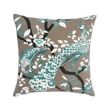 DwellStudio, PEACOCK AZURE PILLOW, Pillows, Home
