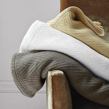 Flame Stitch Blanket, west elm