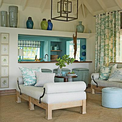 Island decor with underwater tints