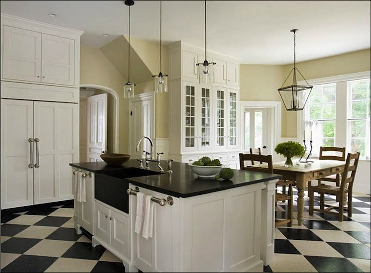 Black And White Kitchen Floor black and white checkered floor design ideas
