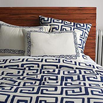 Greek Key Duvet Cover + Shams, west elm