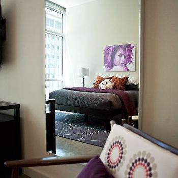 Purple Velvet Pillow, Contemporary, bedroom, Studio Ten 25