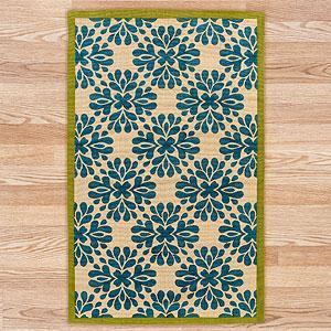 Jute Boucle Printed Medallions Rug, Blue | Rugs| Home Decor | World Market