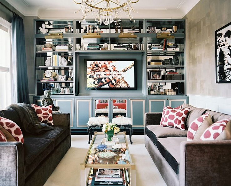 built in cabinets contemporary living room lonny magazine. Black Bedroom Furniture Sets. Home Design Ideas