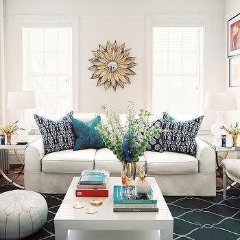 Trellis Rug, Contemporary, living room, Lonny Magazine