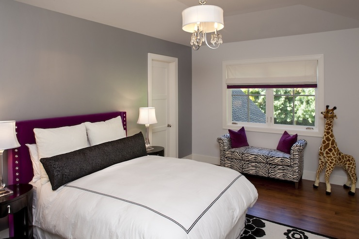 Purple And Gray Bedroom Design Ideas