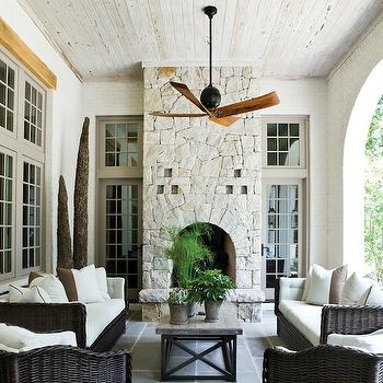 Floor to ceiling brick fireplace design ideas - Floor to ceiling brick fireplace makeover ...
