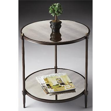 Round Mirrored Side Table Accent Tables Furniture Hom