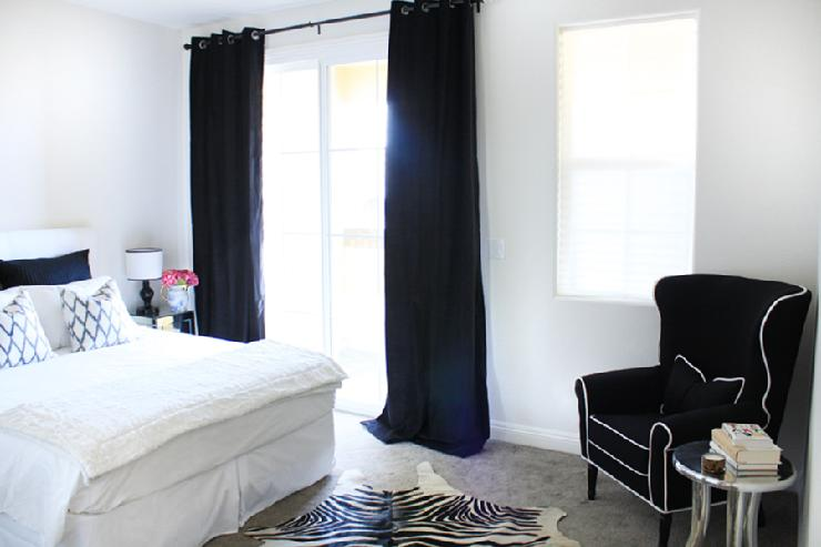 Bedroom Curtains black bedroom curtains : Black And White Drapes Design Ideas