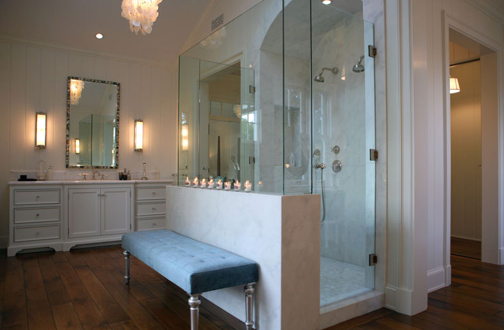 Master Bathroom Ideas Blue : Master bathroom shower ideas transitional