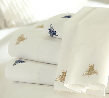 Bed Sheets With Gold Embroidery