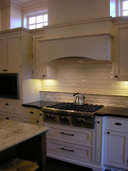Top Beveled Subway Tile Backsplash - Transitional - kitchen - Design Moe IG18