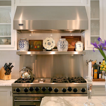 Stainless Steel Backsplash With Shelf Design Ideas