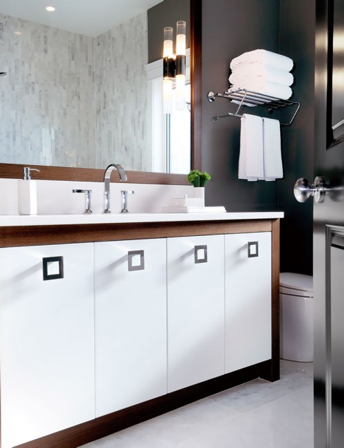 Two Tone Vanity Contemporary Bathroom Atmosphere