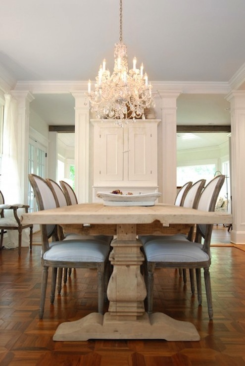 Restoration Hardware Trestle Table French Dining Room AMI Designs - Restoration hardware marble dining table