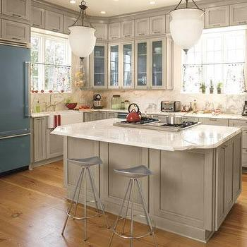 Gray Kitchen Cabinets, Cottage, kitchen, Southern Living
