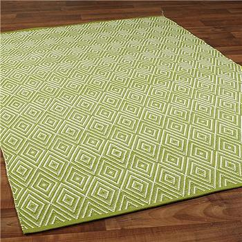 Indoor/Outdoor Concentric Diamond Rug 6 COLORS, Shades of Light