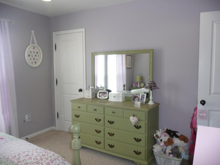 Green Dresser Transitional Girl S Room Sherwin