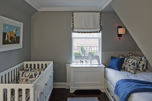 Blue And Gray Nursery Contemporary Lauren