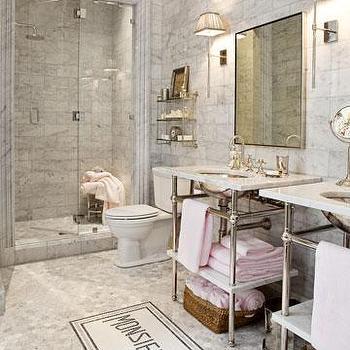 Waterworks Sinks, French, bathroom, House Beautiful