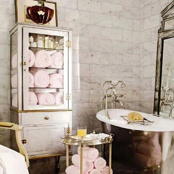Pharmacy Bath Cabinet, French, bathroom, House Beautiful