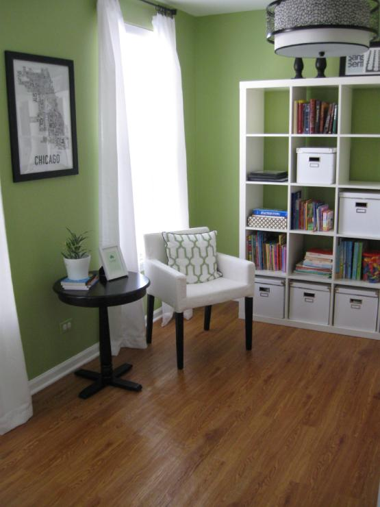 Green Colors For Living Rooms: Den/library/office