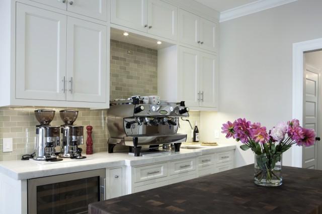 Green Kitchen Backsplash Transitional kitchen Andre Rothblatt