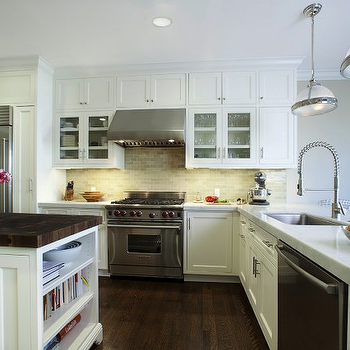 Green Backspalsh, Transitional, kitchen, Andre Rothblatt Architecture
