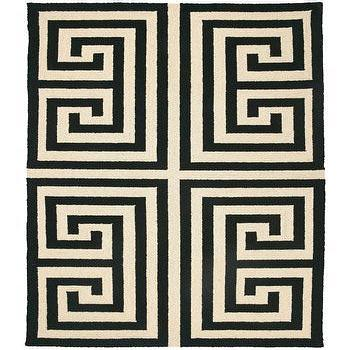 Trina Turk Rug Hook Greek Key Black