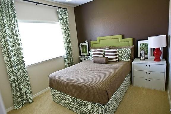 Brown and green bedroom contemporary bedroom my home ideas - Brown and green bedroom ...