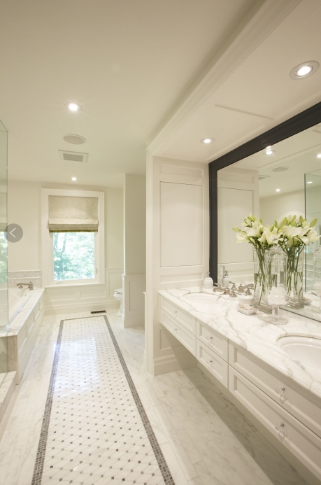 Floating Vanity Transitional Bathroom Meredith Heron