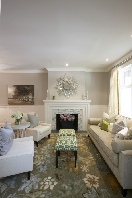 Gray Walls Transitional Living Room Pratt And