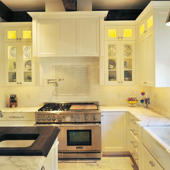 2 Tone Countertops, Transitional, kitchen, Benjamin Moore Calm, Beckwith Interiors