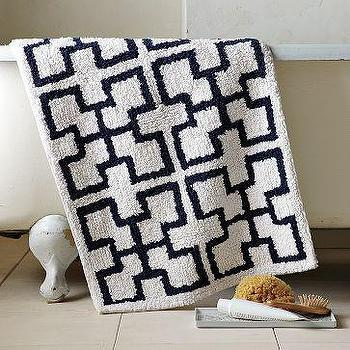 Trellis Bath Mat, west elm