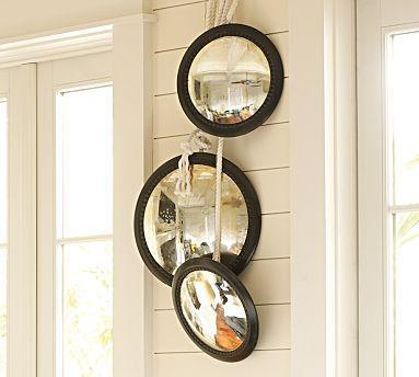 High Quality Round Convex Mirrors   Pottery Barn