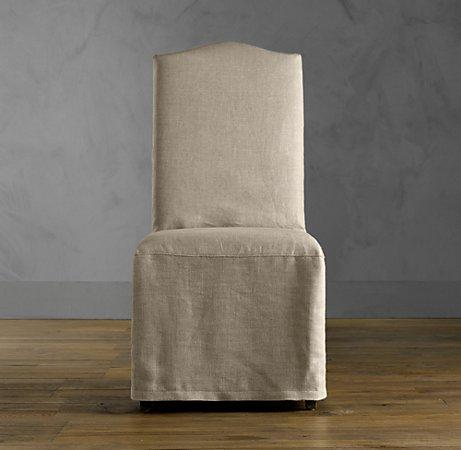 view full size restoration hardware hudson camelback slipcovered side chair with