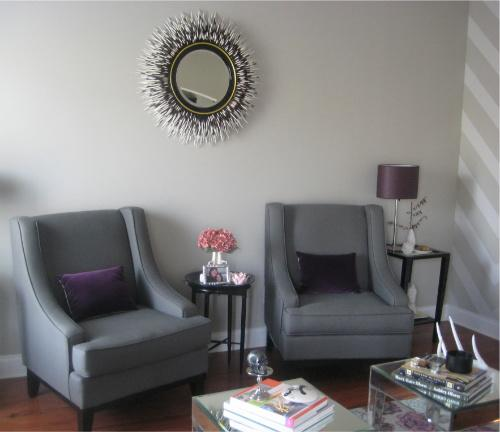 Purple Living Room Chairs Purple Accent Chairs Design Ideas
