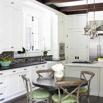 Eat In Kitchen Ideas, Transitional, kitchen, Sherwin Williams Alabaster, Brian Watford Interiors
