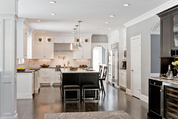 Two tone kitchen ideas transitional kitchen venegas for Kitchen colors with white cabinets with silver fern wall art