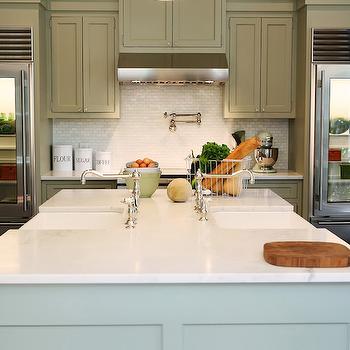 Double Kitchen Sinks, Transitional, kitchen, Urban Grace Interiors