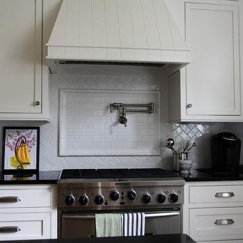 Herringbone Subway Tiles- Transitional, kitchen, Urban Grace Interiors